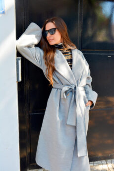 h-era grey oversized coat