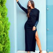 h-era black maxi dress
