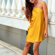 h-era mustard dress
