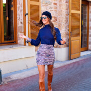 h-era prints skirt