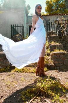 hera white maxi bridal dress