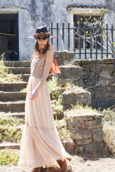 hera nude pink maxi dress