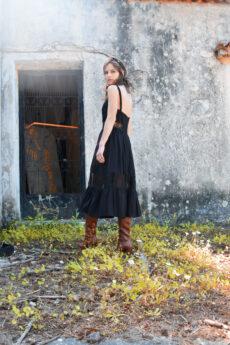 hera black midi dress