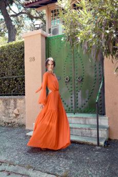 hera orange maxi dress