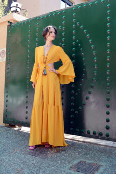 hera yellow maxi dress