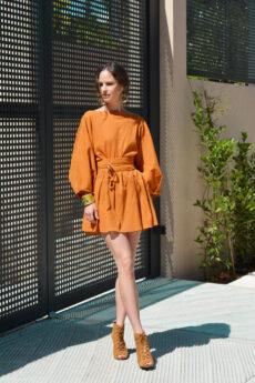 hera orange-brown mini dress