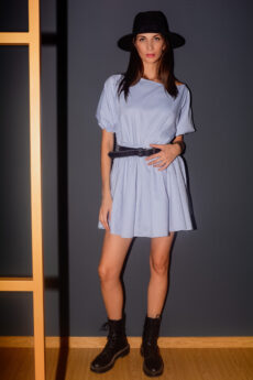 hera light blue dress