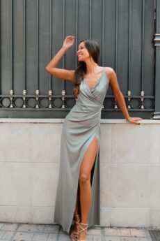 h-era maxi metallic dress