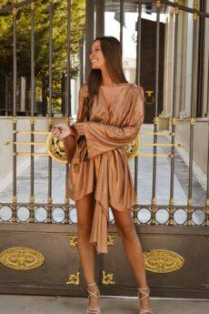 h-era mini bronze dress