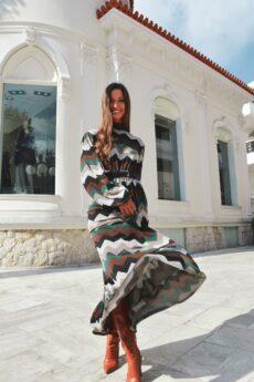 h-era maxi knitted dress