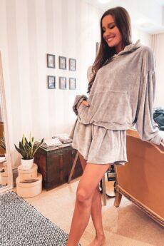 h-era dusty gray sweatsuit