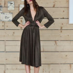 h-era brown alcantara dress front