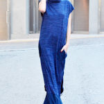 h-era indigo blue dress