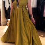 maxi mustard dress
